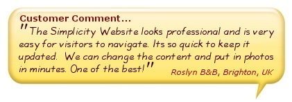 Simplicity Websites comment